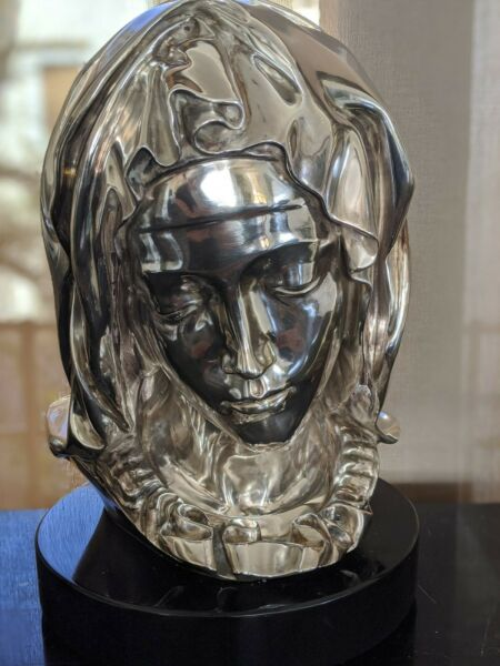 Madonna della Pieta Silver Bust (Limited Edition) - Offers Welcome