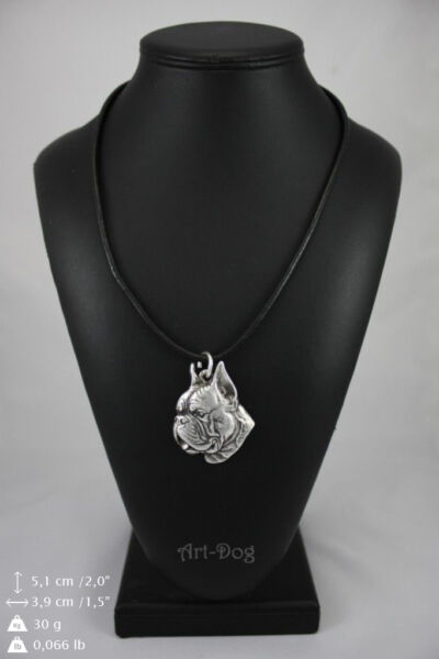 Boxer silver covered necklace high qauality Art Dog C $28.99