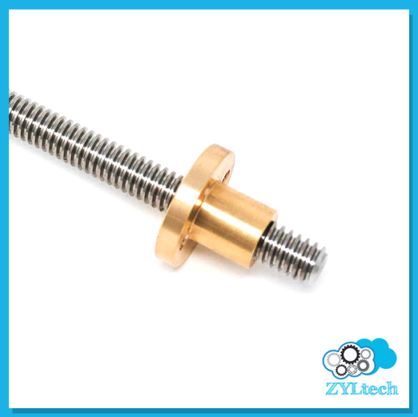 1 2 10 Stainless Steel ACME Threaded Rod Lead Screw w Brass Nut 12quot; 24quot; 36quot; 48quot;
