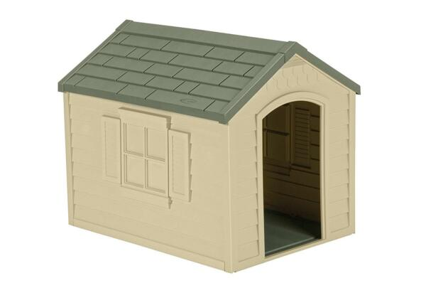 Durable Resin All Weather Extra Large Suncast Pet Dog House Home Outdoor Cage $93.60