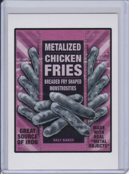 2017 Garbage Pail Kids Network Spews Wacky Packages #25 Metalized Chicken Fries