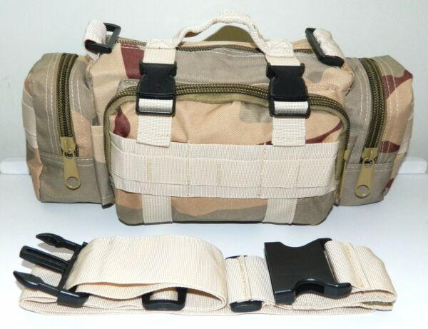 Molle Tan Desert Camo Outdoor Hunting Utility Military Tactical Pack Bag Pouch