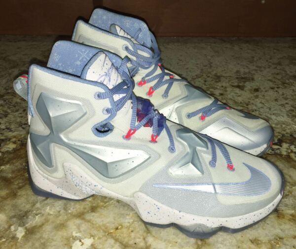 NIKE LeBron XIII 13 Christmas Basketball Shoes Sneakers White Blue NEW Mens 10