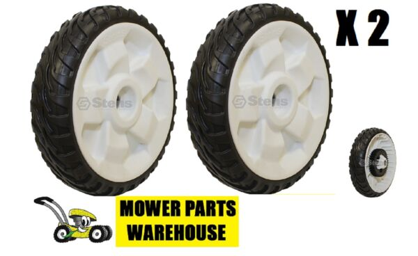 2 NEW REPLACEMENT TORO 8 INCH REAR WHEELS DRIVE WHEELS 22quot; RECYCLER 115 4695