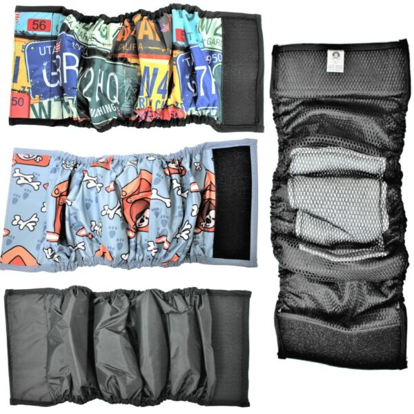 LEAK PROOF Dog Belly Band Diaper Male Wrap WASHABLE Waterproof ABSORBENT Padding $7.64