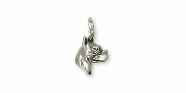 Boxer Charm Jewelry Sterling Silver Handmade Dog Charm CH38 C $54.99
