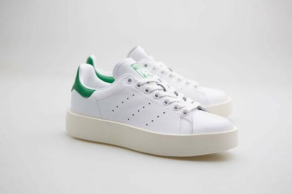 Adidas Women Stan Smith Bold white footwear white green S32266