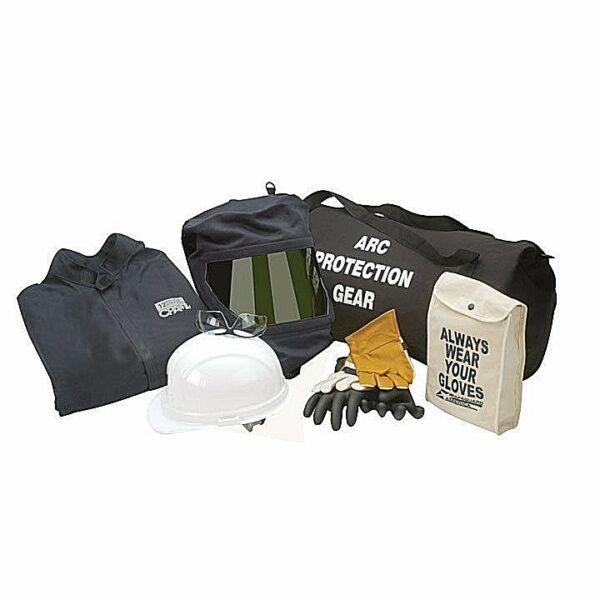 CHICAGO PROTECTIVE APPAREL AG20-CV 20 CAL ARC FLASH COVERALL KIT WGLOVES. 3XL