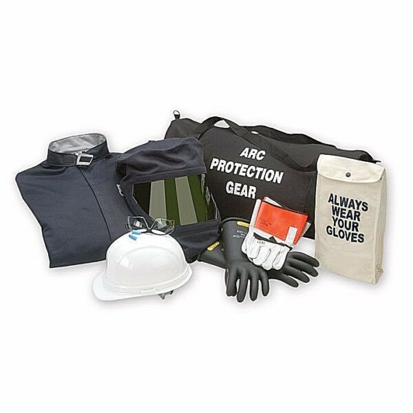 CHICAGO PROTECTIVE APPAREL AG32-CV 32 CAL ARC FLASH COVERALL KIT WGLOVES S-XL