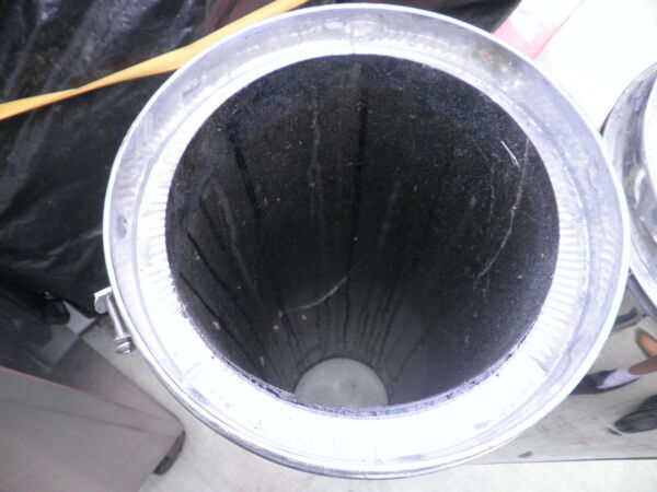 WOOD STOVE INSULATED PIPE  HEATER 8