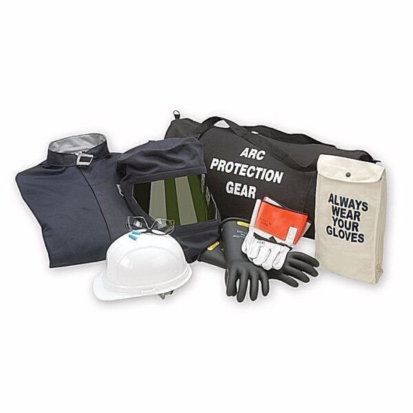 CHICAGO PROTECTIVE APPAREL AG32-CV 32 CAL ARC FLASH COVERALL KIT WGLOVES. 4XL