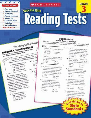 Scholastic Success With Reading Tests  Grade 3: By Scholastic Scholastic
