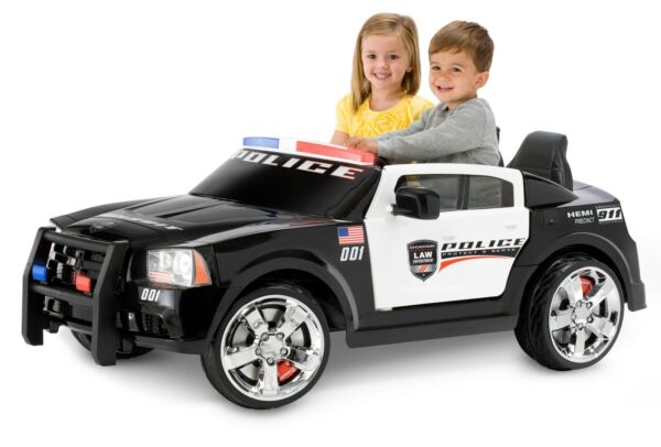 Kid Trax Dodge Pursuit Police Car 12 Volt Battery Powered Ride On Black $526.62