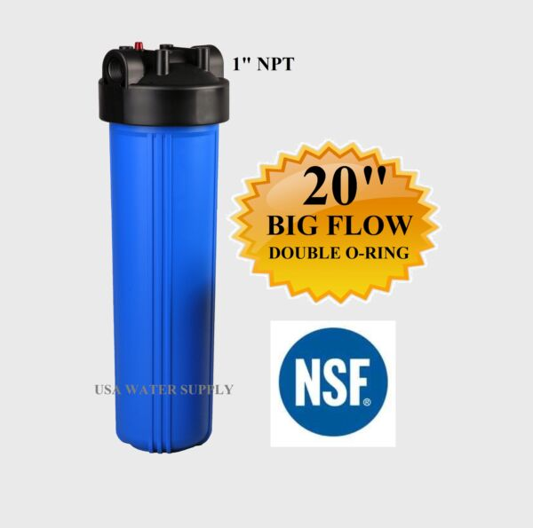 20x4.5 Big Blue Water Filter Housing 1quot; NSF Whole House RO