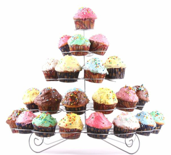 Charmed 41 Count 5 Tier Cupcake Stand Dessert sweets Holder tower REFURBISHED