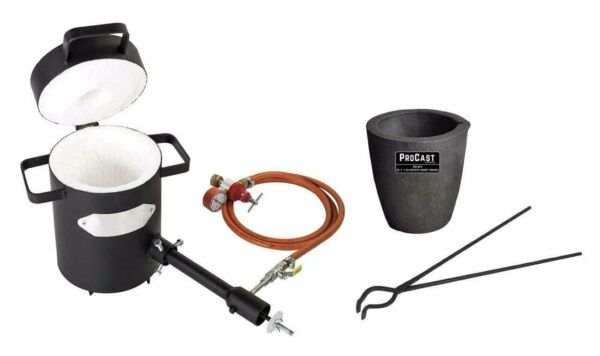 5 Kg Propane Metal Casting Furnace Kit Graphite Foundry Crucible amp; 19quot; Tongs $384.85