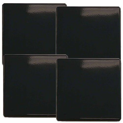 Gas Stove Burner Covers Set of 4 Black Protect 9