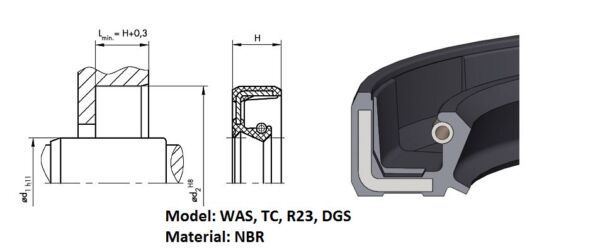 (pack) Rotary shaft oil seal 0 (height model)
