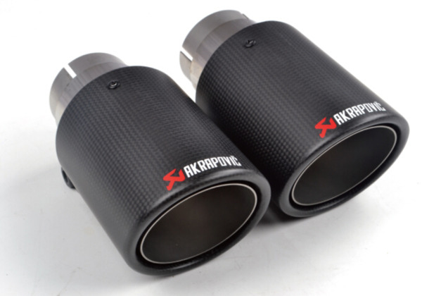 Universal AKRAPOVIC Exhaust Tip Muffler Pipe Carbon Fiber 51mm inlet 89mm outlet