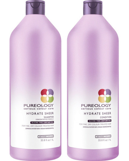 Pureology Hydrate Sheer Shampoo Conditioner 33.8 oz Liter Duo Set