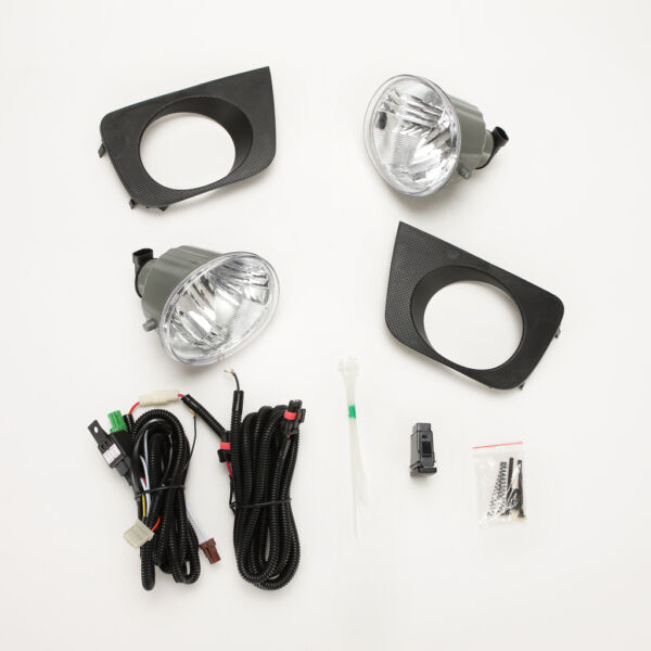 Clear Fog Light For 2006 2009 Toyota 4Runner Hilux Surf w Bezel Switch Wire Bulb
