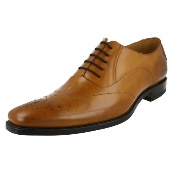 Mens Gunny F fitting tan leather lace up shoe by Loake