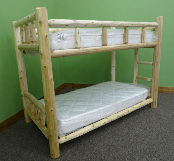 Premium Log Bunk Bed - Twin Xl Over Twin XL $659 - Free Shipping