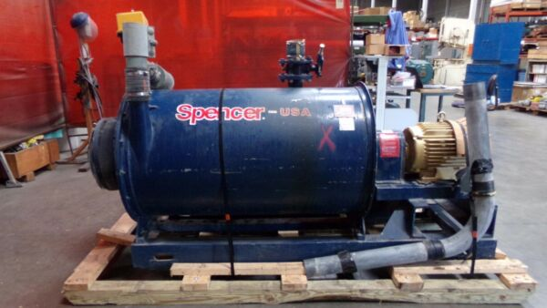 Spencer Vacuum Blower Producer Model 120X20 with 20 HP Motor and Actuator