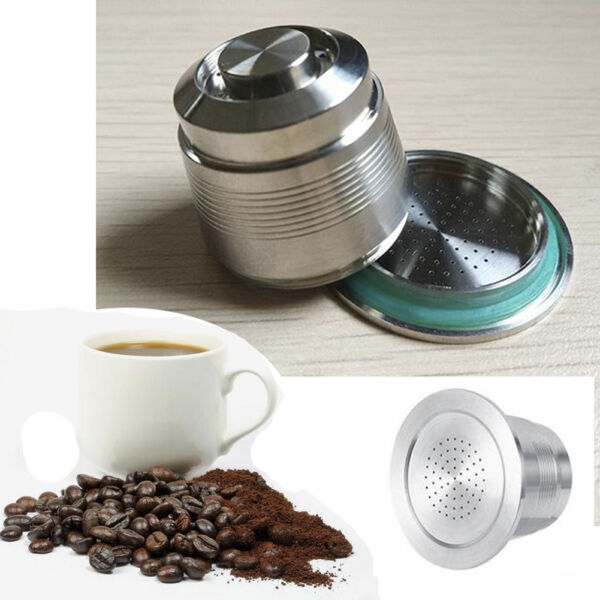 Stainless Steel Refillable Capsule Fliter J Coffee Pod Fit Nespresso Machine Hot