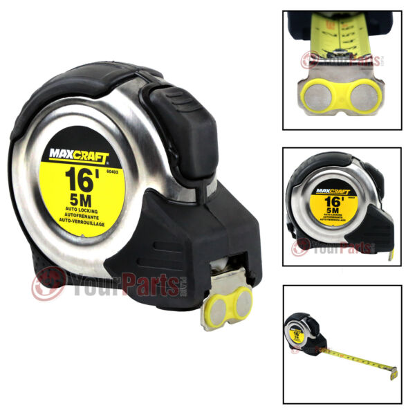 Maxcraft 60403 16-Foot by 3/4-Inch Auto Locking Tape Measure Metric