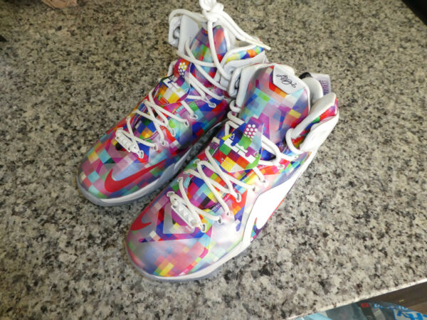 Nike Lebron Eat Your Breakfast XII EXT shoes Sneakers New 748861 900 Mens size 9