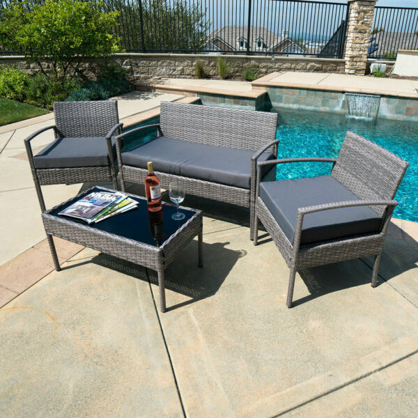 Patio Furniture Sets Clearance Sale Indoor Outdoor Backyard Cute Wicker Living