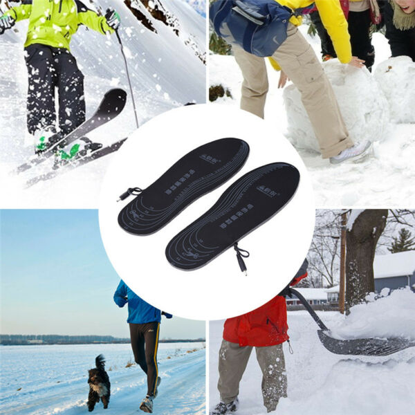 Winter Electric Foot Warmer Heater USB Charging Shoes Insoles Heated Shoe Pad