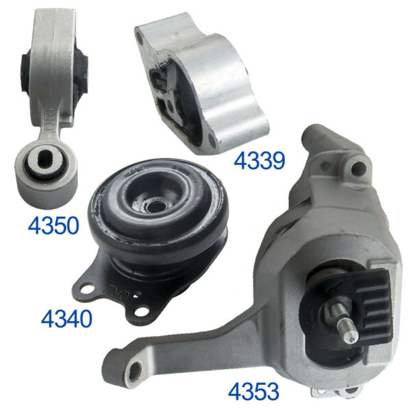 Transmission Engine Mount SET fits 2007-2012 Nissan Altima 2.5L Auto CVT 4pcs
