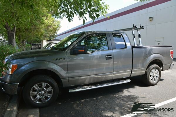 EOS Visors For 04-14 Ford F-150 Extended Cab IN-CHANNEL Side Window Rain Guards