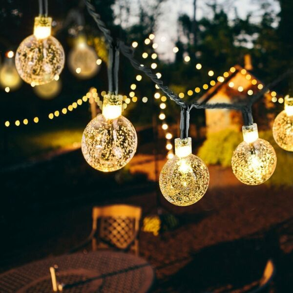 Outdoor String Lights Patio Party Yard Garden Wedding 30 Solar Powered LED Bulbs