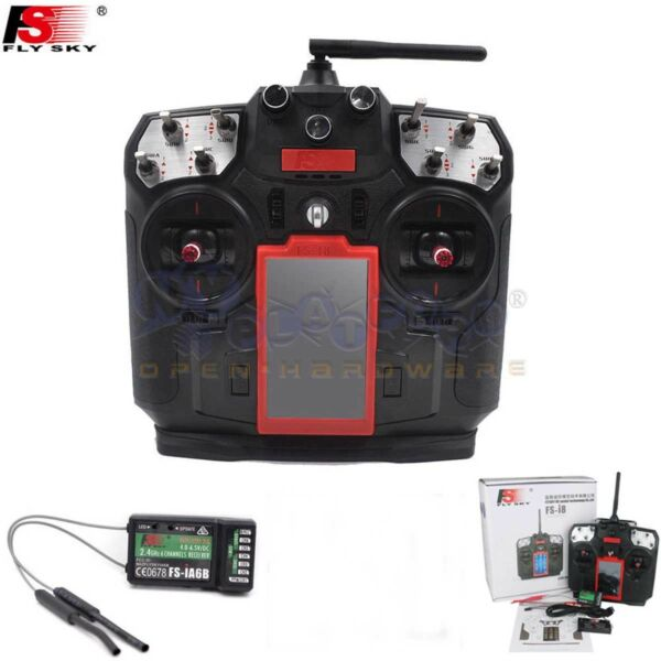 Flysky FS-I8 2.4G 8CH RC Transmitter with IA6B Receiver for RC Drone Helicopter