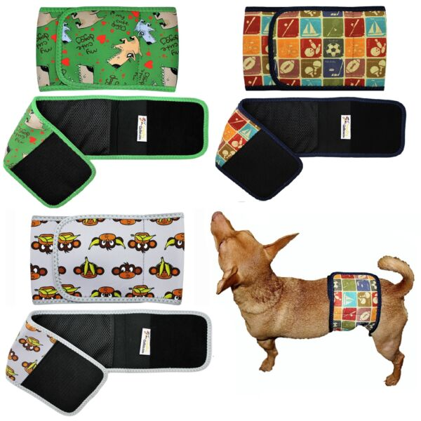Dog BELLY BAND Male Diaper Wrap Reusable Washable NEOPRENE Small Large XXS XXXL $11.99