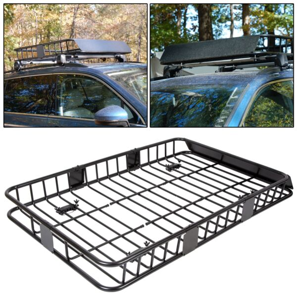 64'' Universal Roof Rack wExtension Cargo SUV Top Luggage Carrier Basket Holder