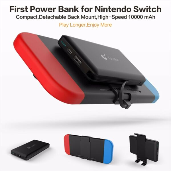 10000mAh External Back Power Bank Battery Charger Portable for Nintendo Switch $38.95