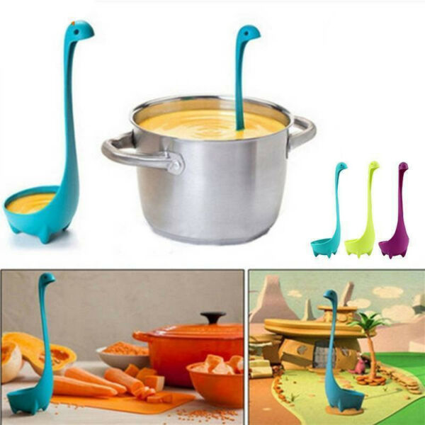 1 Pc Dinosaur Spoons Soup Loch Ness Ladle Monster Nessie Spoon Kitchen Supplies