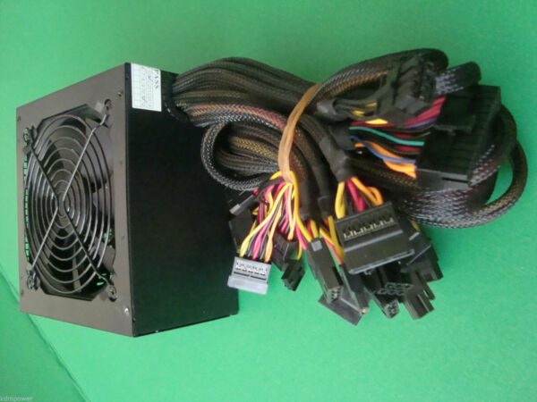 New 1000W 1000 Watt 1050W 1075W Quiet Fan SATA 12V PCI-E ATX Power Supply PSU