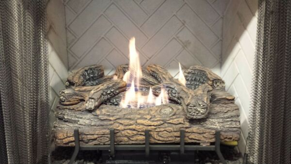 Vent-Free Logs Monessen Charred Oak W Remote 24 inch Natural Gas