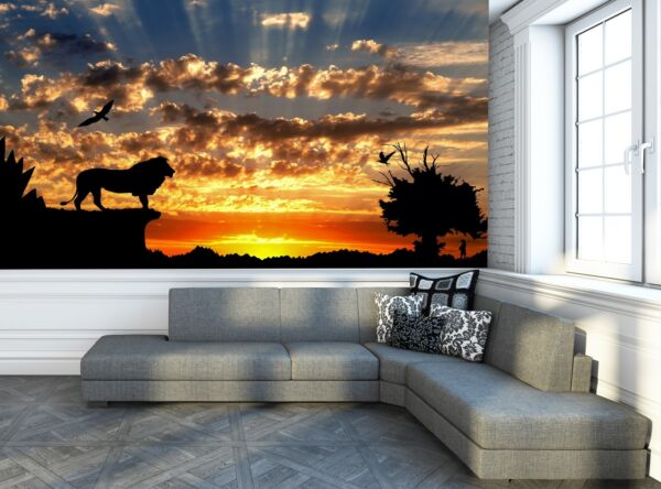 Jungle with Mountains Photo Wallpaper Wall Mural DECOR Paper Poster Wall $79.99