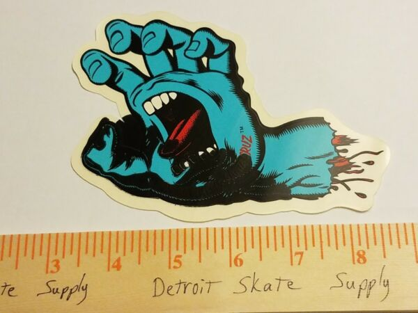 VTG 80's SANTA CRUZ SCREAMING HAND SPEED WHEELS MISPRINT NOS SKATEBOARD STICKER