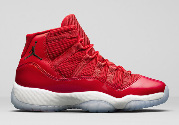Nike Air Jordan 11 XI Retro size 6.5Y 6.5 Red White. Win Like 96. 378038-623.