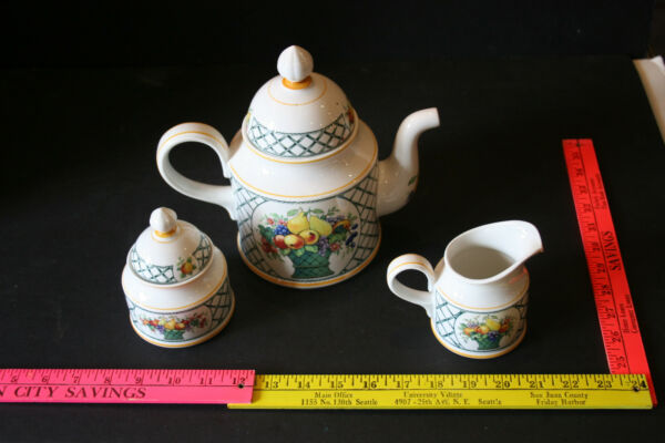 Villeroy & Boch Basket Coffee pot Creamer and Sugar Set