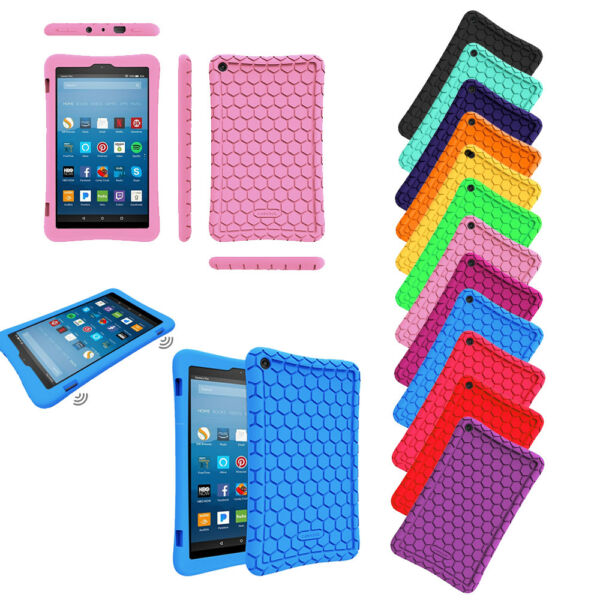 Shock Proof Soft Silicone Case Cover for All New Amazon Fire 7 HD 8 HD 10 $7.09