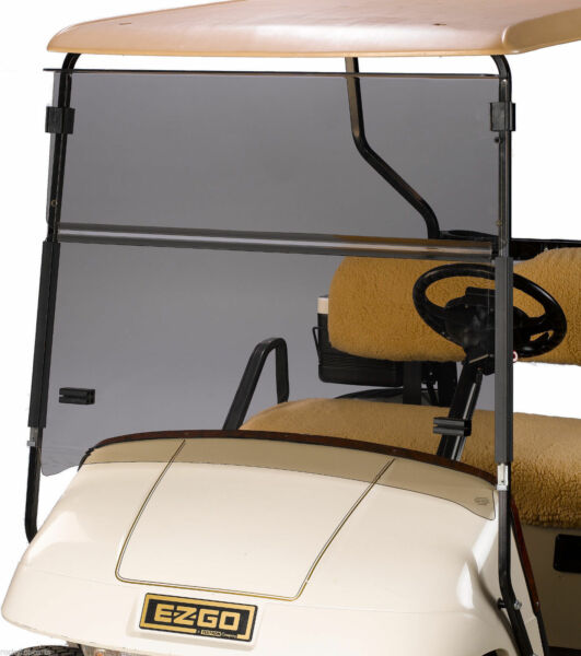 EZGO TXT Golf Cart Windshield Folding Tinted, Impact Resistant Acrylic 1994-2013