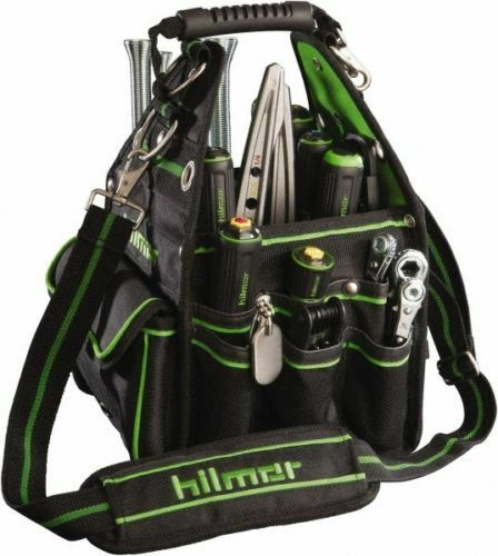 Hilmor Plumber Electrician Hand Tool Organizer Carry Bag Tote w/ 27 Pockets
